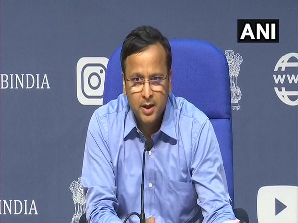 Lav Aggarwal, Joint Secretary, Ministry of Health and Family Welfare, speaking to media in New Delhi on Saturday. Photo/ANI