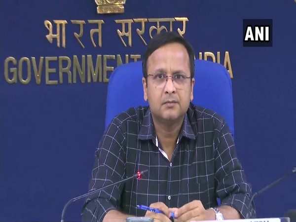 Lav Agarwal, Joint Secretary, Union Health Ministry, during a press briefing in New Delhi on Thursday. Photo/ANI