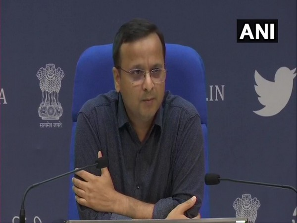 Lav Agarwal, Joint Secretary, Union Health and Family Welfare Ministry,  addressing a press conference in New Delhi on Tuesday. Photo/ANI