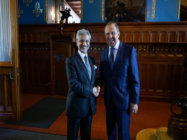 External Affairs Minister S. Jaishankar with Russian counterpart Sergey Lavrov in Moscow on Wednesday