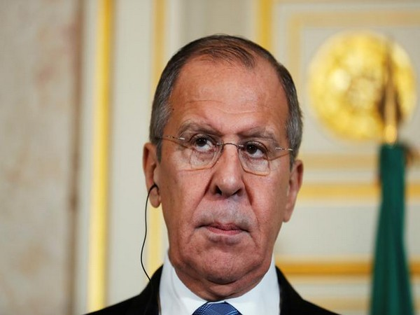 Russian Foreign Minister Sergey Lavrov attends a news conference