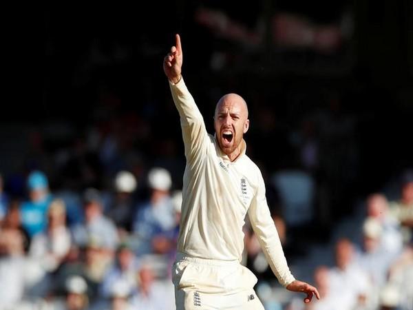 England spinner Jack Leach.