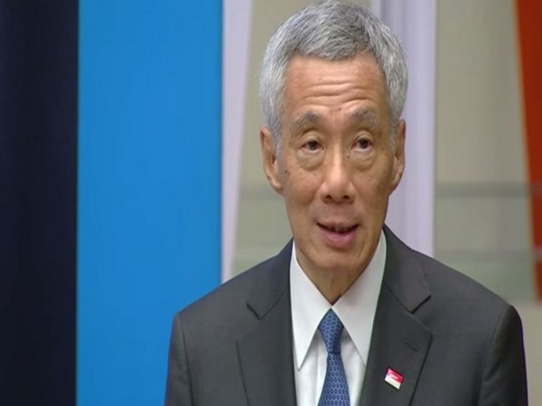 Singapore Prime Minister Lee Hsien Loong addressing a UN event on Mahatma Gandhi