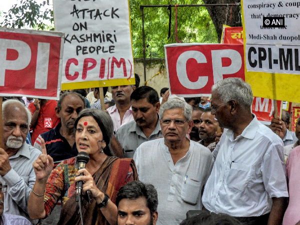 Left parties during a protest. File photo