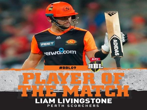 Perth Scorchers' Liam Livingstone (Image: BBL's Twitter)