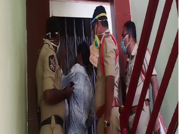 Man died after falling under the lift in Krishna District, Andhra Pradesh on Thursday. (Photo/ANI)