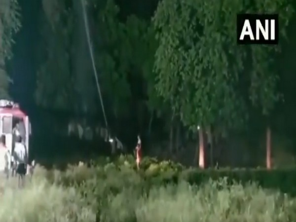 Chemical spraying was done at Nayepur to control the locust attack [Photo/ANI]