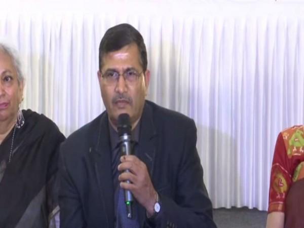 Ashwani Lohani speaking at the speech on Wednesday.