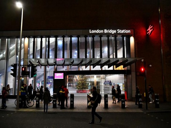 Visuals of the spot at London Bridge underground station on Friday evening.