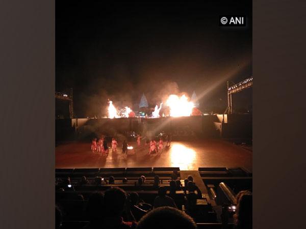 Musical rendition of the epic tale Ramayana, where Lord Hanuman burning Lanka.
