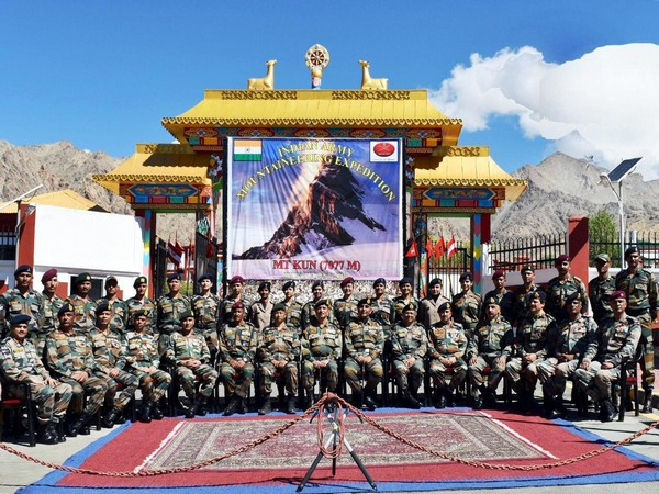 The team was flagged off by Lieutenant General YK Joshi in Leh, Jammu and Kashmir, on Tuesday.