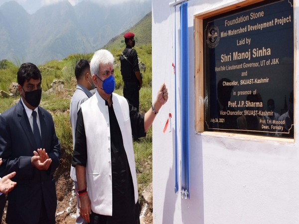 J-K Lt Governor inaugurates new boys hostel at SKUAST (Photo/ANI)