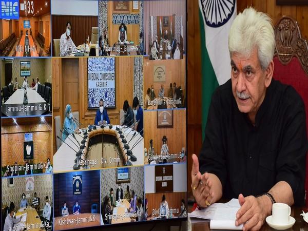Jammu and Kashmir Lieutenant Governor Manoj Sinha reviewed Covid situation