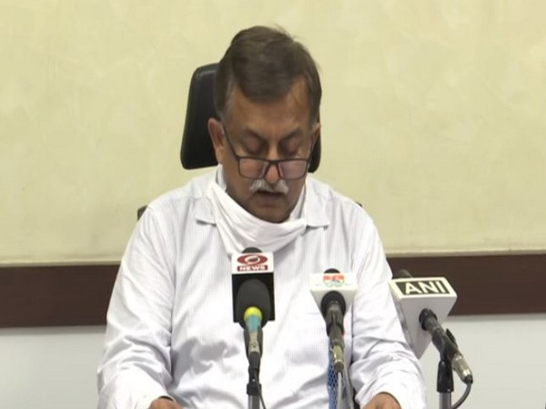 UP Additional Chief Secretary (Home and Information) Awanish Awasthi speaking to media reporters on Monday. Photo/ANI