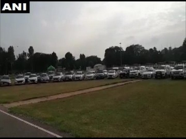 Vehicles recovered from the gang in Lucknow
