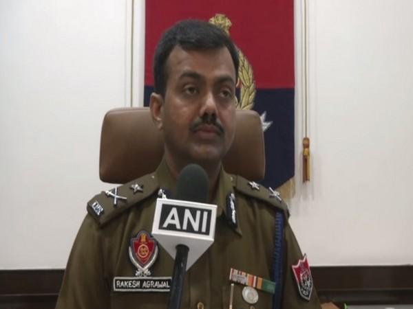 Ludhiana Police Commissioner Rakesh Agrawal talking to ANI on Monday. Photo/ANI