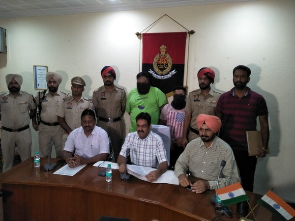 Special task force arrests 3 persons from Ludhiana for allegedly peddling drugs. Photo/ANI