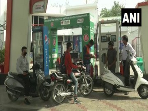 A visual from a petrol pump in Ludhiana on Thursday.