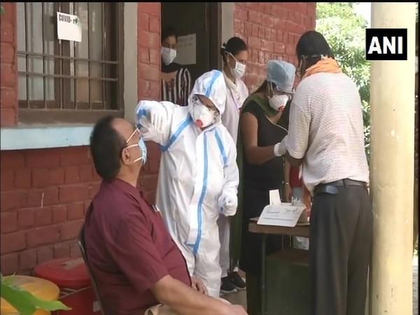 Covid-19 tests underway in Ludhiana Punjab, through Community Health Centre (CHC).