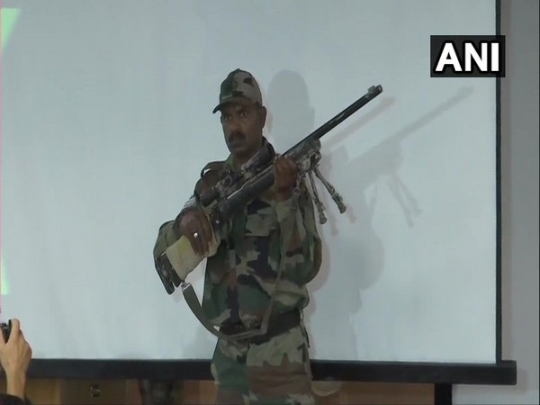The US made M-24 sniper rifle recovered by security forces in Kashmir. Photo/ANI