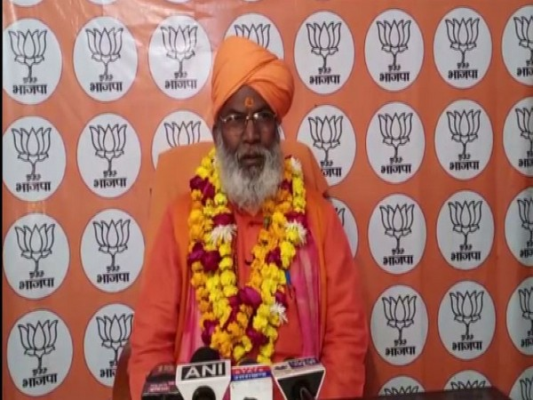 BJP MP Sakshi Maharaj speaking to media on Sunday. (Photo/ANI)
