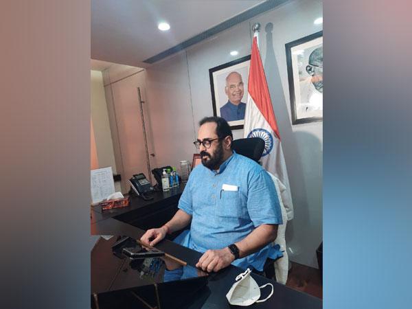 Union Minister of State Rajeev Chandrasekhar (Photo/ANI)
