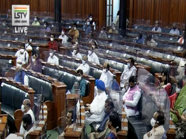 Visual from Lok Sabha (Photo/ANI)