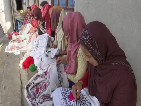 Visual of women at an Anganwadi in Rajouri (Photo/ANI)