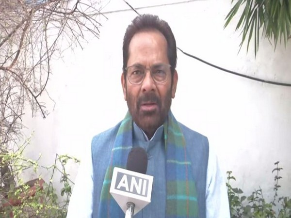 Union Minister Mukhtar Abbas Naqvi speaking to ANI on Sunday.
