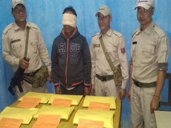 Manipur police arrested a person and 6 kg of opium was seized from his possession. Photo/ANI