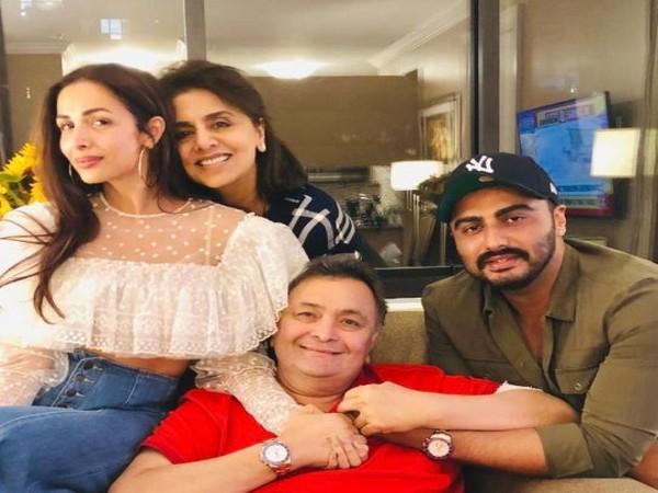 Malaika Arora, Arjun Kapoor, Rishi Kapoor, Neetu Kapoor (Image courtesy: Twitter)