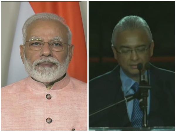 Prime Minister Narendra Modi and his Mauritius counterpart Pravind Jugnauth