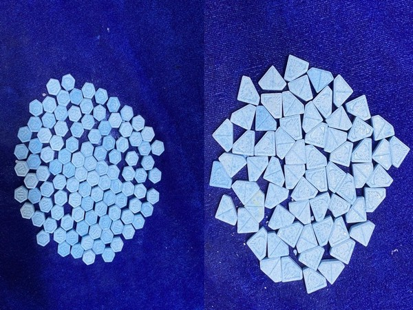 Large quantity of MDMA tablets were seized by the authorities in Chennai. (Photo/ANI)