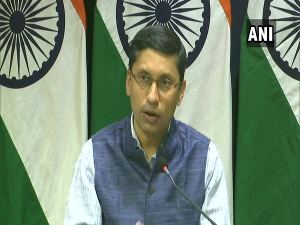 Ministry of External Affairs (MEA) spokesperson Arindam Bagchi during a press conference on Thrusday.
