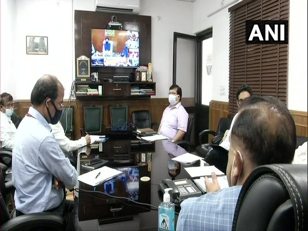 Minister of DoNER, Jitendra Singh, held a meeting with the Chief Secretaries of Northeastern states over COVID-19. Photo/ ANI