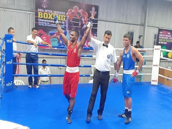Three MEG boxers win gold medals at Inter Services Boxing championship 2019