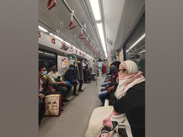 Visual of Lucknow Metro (Photo/Twitter)