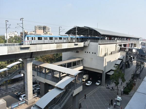 Visual of metro in Telangana (Photo/ANI)