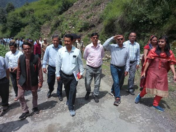 MHA team in Chamoli on Friday. Photo/ANI