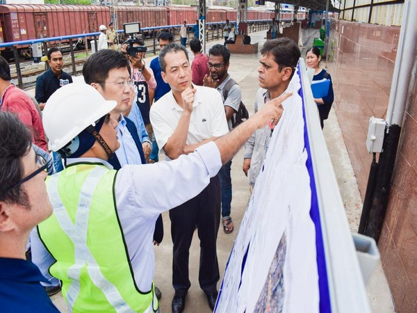 Japan's Vice Minister for Land, Infrastructure and Transport Masashi Adachi during his visit to various sites in Vadodara on Saturday. Photo/ANI