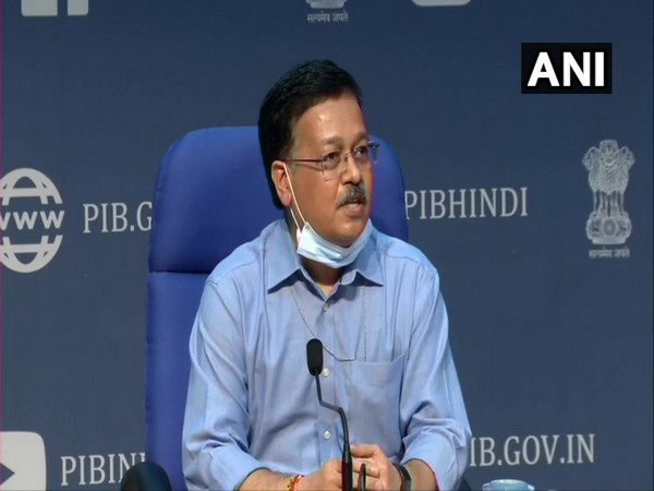 Rajesh Bhushan, Secretary, Ministry of Health addressing a press conference in New Delhi on Tuesday. (Photo/ANI)