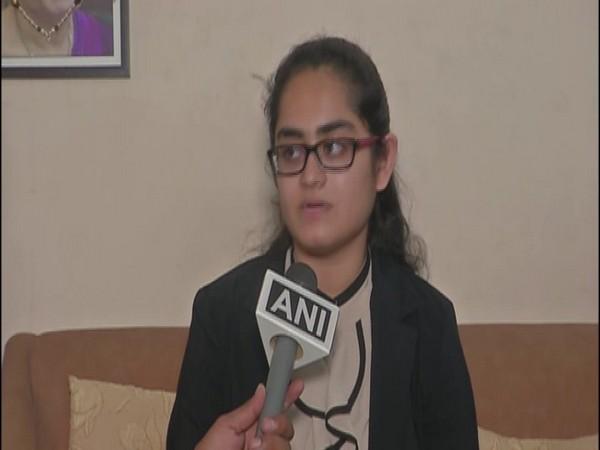 Stuti Khandwala while speaking to ANI in Surat on Friday. Photo/ANI