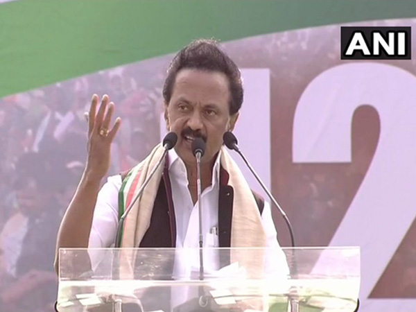 DMK president and leader of Opposition in Tamil Nadu assembly MK Stalin Photo/ANI