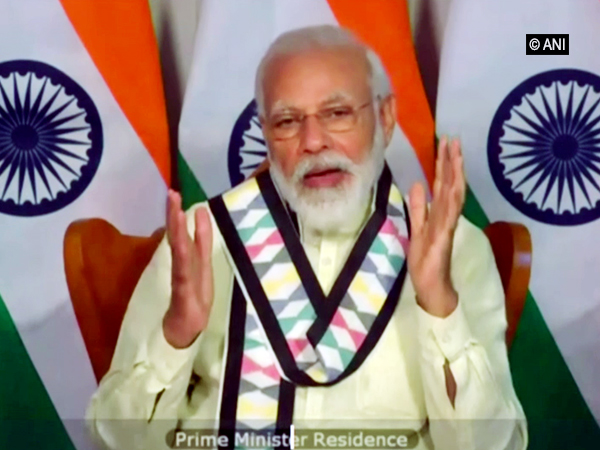 Prime Minister Narendra Modi addressing the 95th annual plenary session of ICC on Thursday. [Photo/ANI]
