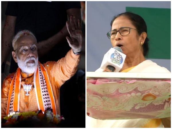 Prime Minister Narendra Modi and West Bengal Chief Minister Mamata Banerjee (File photo)