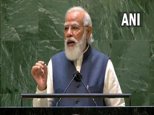 Prime Minister Narendra Modi at 76th UNGA.
