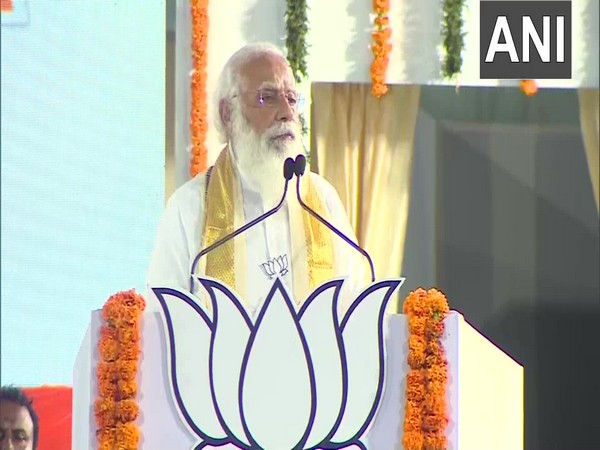 Prime Minister Narendra Modi addressing a rally at Kerala. (Photo/ ANI)