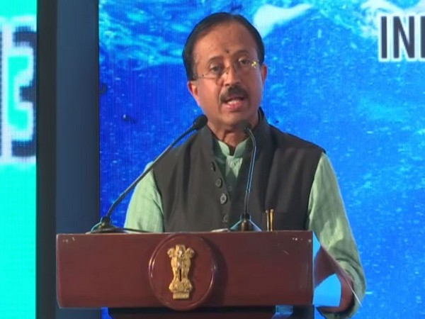 MoS MEA V Muraleedharan during his address at Delhi Dialogue. Photo/ANI