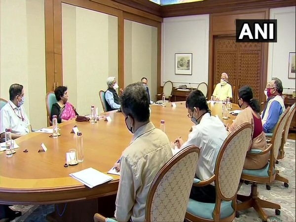 Visual from the meeting of Prime Minister Narendra Modi.