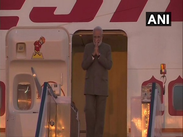 Prime Minister Narendra Modi arrives in New Delhi after attending the G-20 summit in Osaka, Japan.